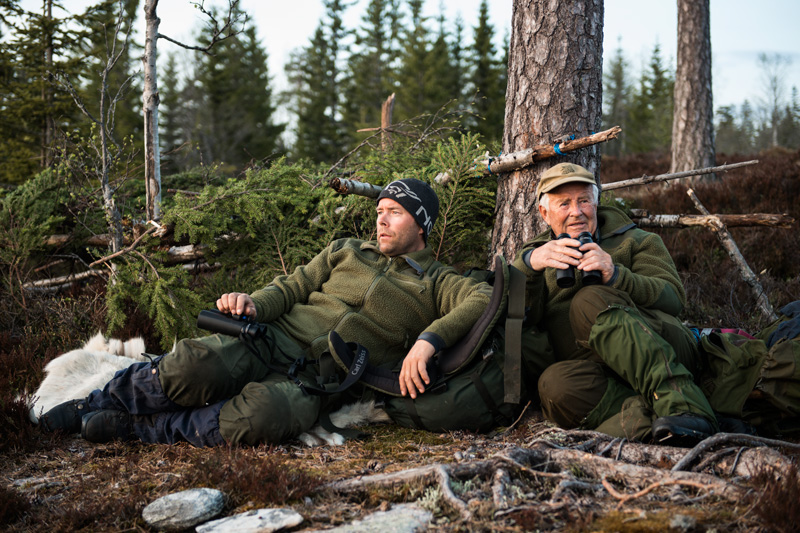 Jan Erik and Martin Blom spending a night in the woods to check out the black grouse play