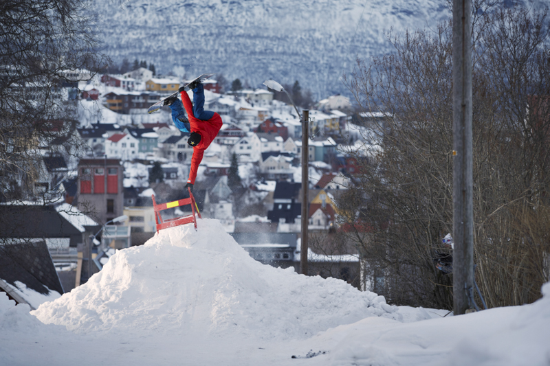 Multiple X-games winner Andreas Wiig showing off that well known style in narvik.