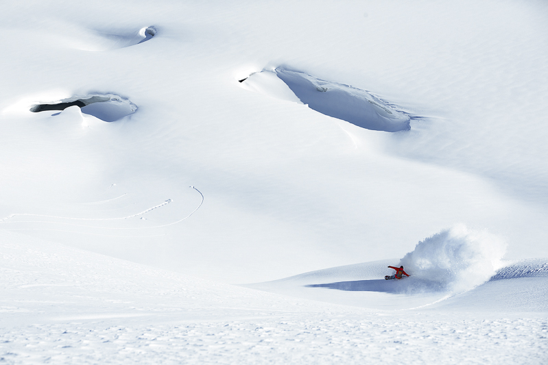 Andreas Wiig spends most of his time on snowboard and in places like this.