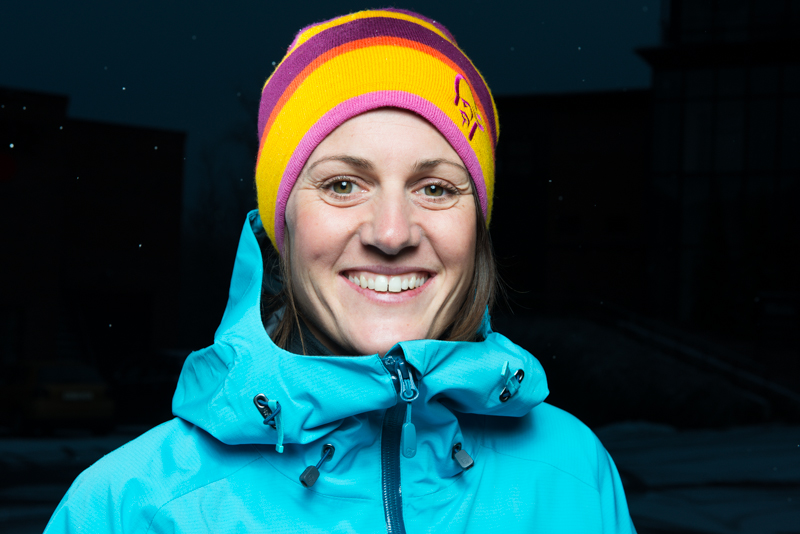 Christine Hargin joins Norrona's team of skiers to reprecent the lofoten collection.