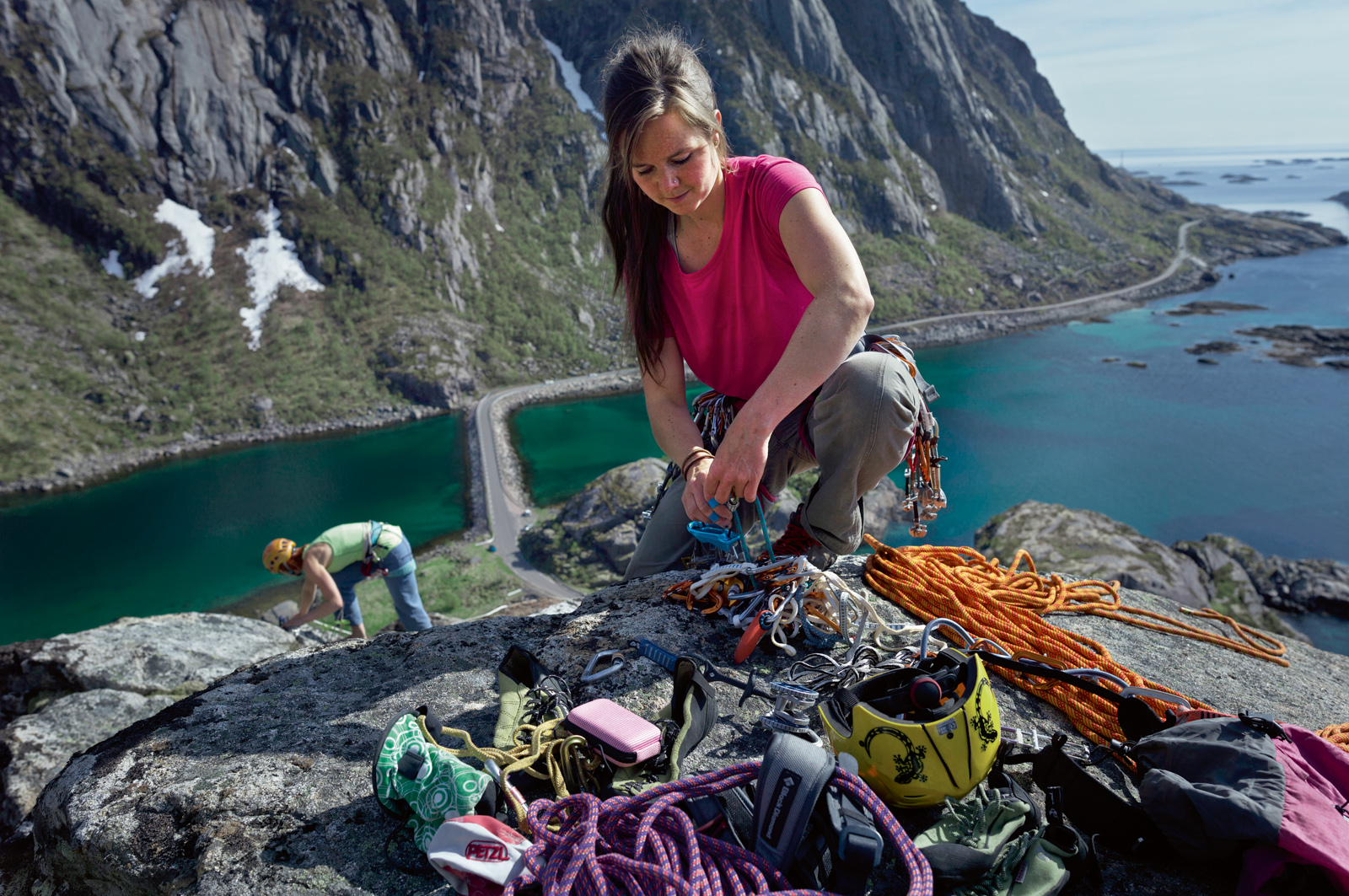 Beautiful surroundings in Lofoten Norway, climbing wih Norrona