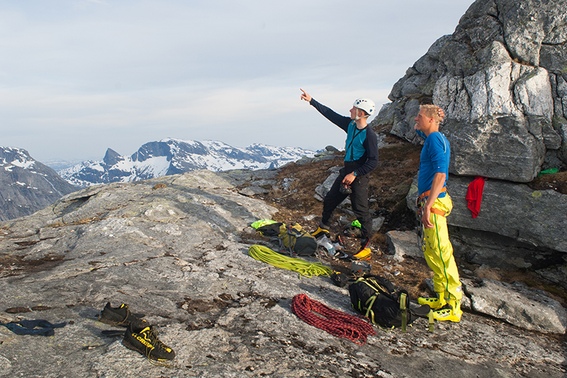 Technical climbing, was no problem in the bitihorn range they were using.