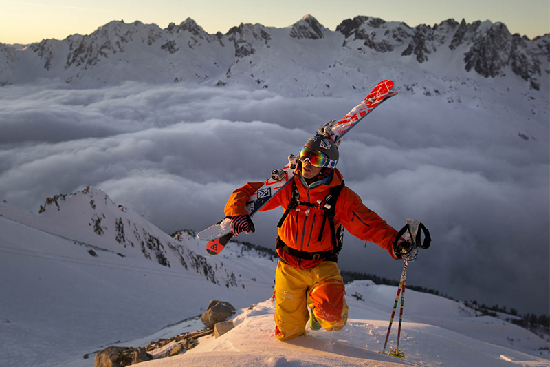 Norrona ambassador and Italian guide and freerider Giuliano Bordoni in lofoten
